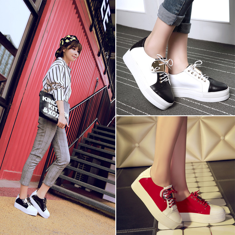 Fashion metal lace shallow mouth flat loafers casual shoes