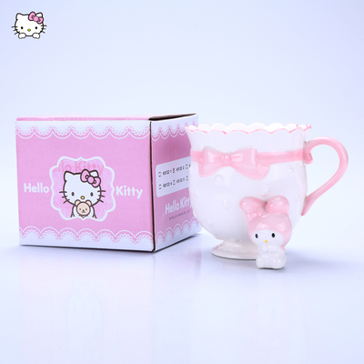 Hello Kitty陶瓷杯牛奶杯可爱公主杯卡通凯蒂猫杯子骨瓷咖啡杯
