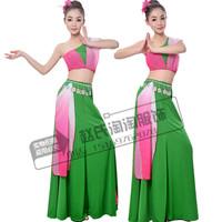 新款傣族女子群舞舞台舞蹈演出服饰版纳印象孔雀舞民族舞表演服装