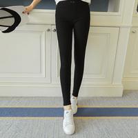 外穿新款打底裤春夏款女士薄款黑色小脚铅笔裤高腰弹力显瘦长裤子