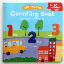 The original flip book Learning words count, counting the blue book more than 80 organ
