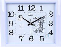 康巴丝静音20英寸办公挂钟大号客厅长方形简约钟表时尚田园石英钟
