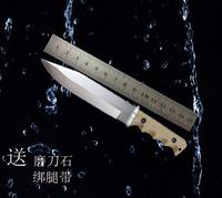 户外荒野求生小直刀随身正品高硬度军刀野外防身小刀爱好收藏刀具