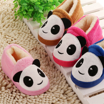 1-2-3-year-old baby in autumn and winter slippers cotton slippers soft bottom slip 1 year 2 year-old child at home warm slippers Panda