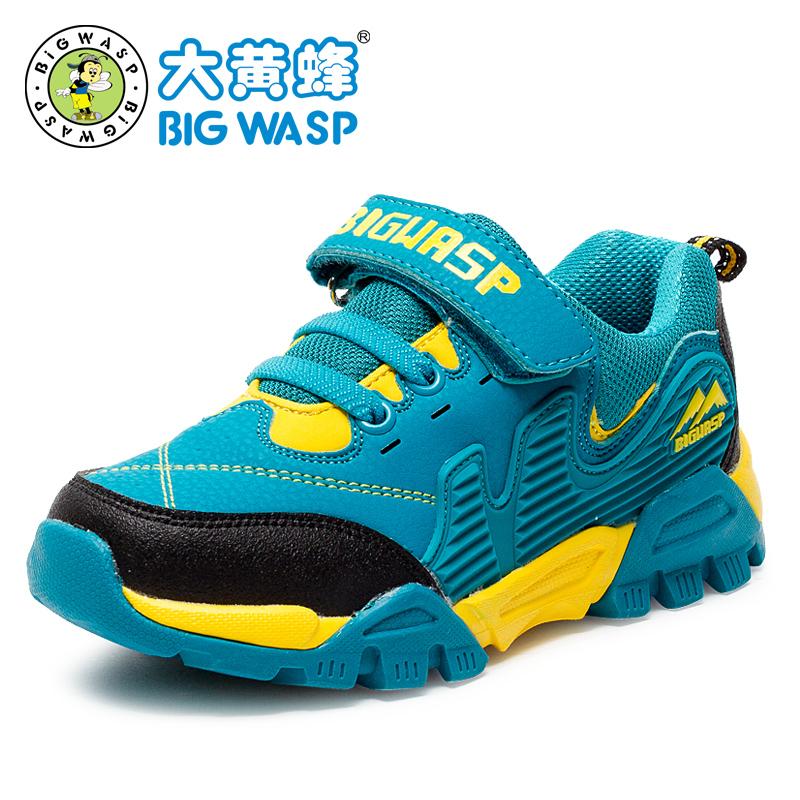 大黄蜂登山鞋防滑耐磨球鞋儿童运动鞋秋季防水户外男童鞋学生波鞋