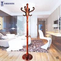 古典中国风中式衣帽架 落地实木木质挂衣架复古大气衣架 衣服架子