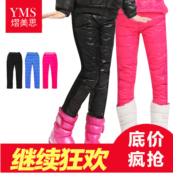 Yi MELS 2014 warm winter outer wear trousers trousers girls leggings thick double-sided boots, pants children