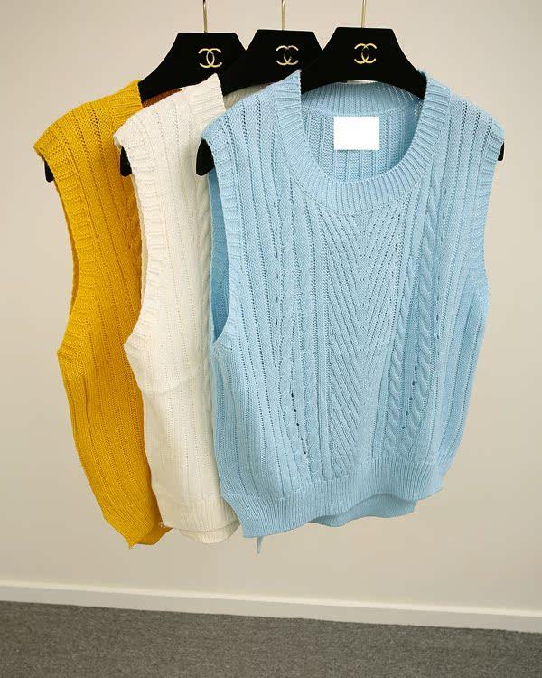 複古短款花紋針織毛衣