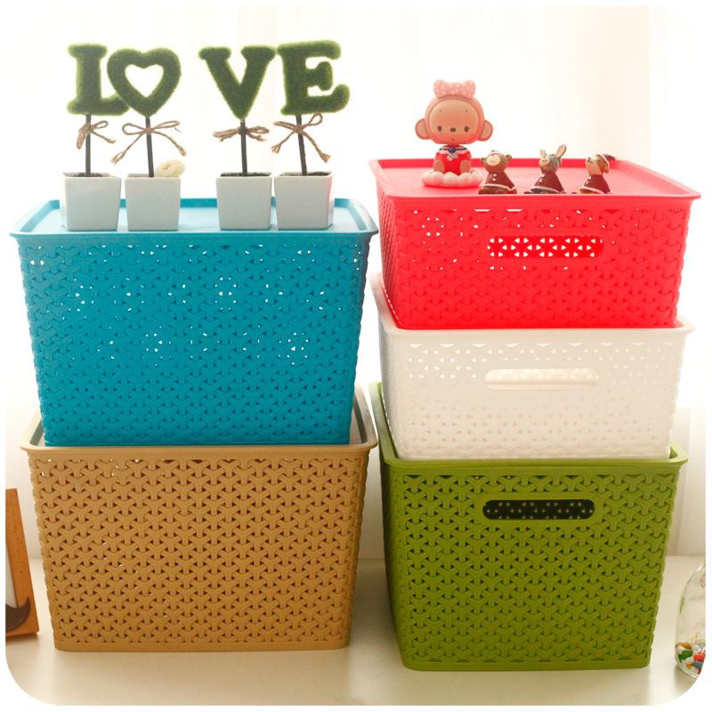 塑料收纳箱装衣服大号玩具储物筐置物箱子衣物整理盒零食盒子书箱