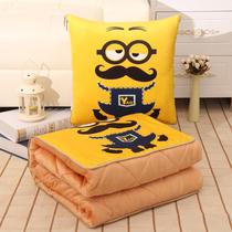 多功能抱枕被子两用靠枕汽车折叠靠垫卡通办公室空调被午睡小毯子