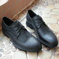 超值甩货 布洛克正装男鞋 商务尖头皮鞋 真皮男鞋 复古雕花上班鞋