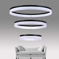北欧现代简约圆形餐厅吊灯 个性创意办公室大气酒店客厅环形灯具