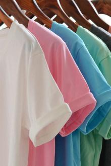 夏装纯色短袖T恤女韩版糖果色宽松大码卷边白色t恤学生打底衫纯棉
