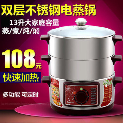 Europe Wang DZ208B stainless steel steamer large capacity electric steamer multifunction household electric cookers with timer