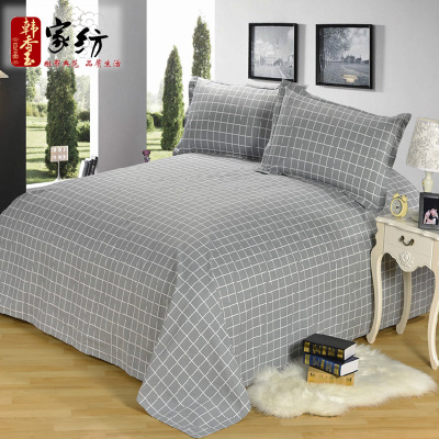 Han Xiangyu old coarse linen cotton printing a single piece of cotton cloth single or double beds bed linen bedspreads Li