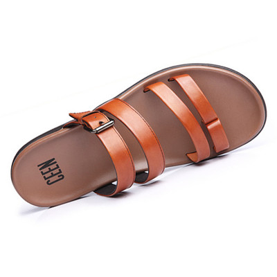 Business office can wear sandals men's first layer of leather sandals slippers sandals