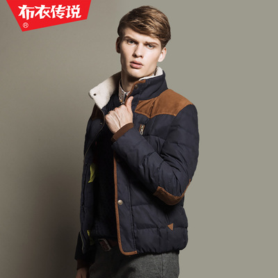 Commoner legendary winter 2014 new stitching thick coat collar jacket men's jacket YR218