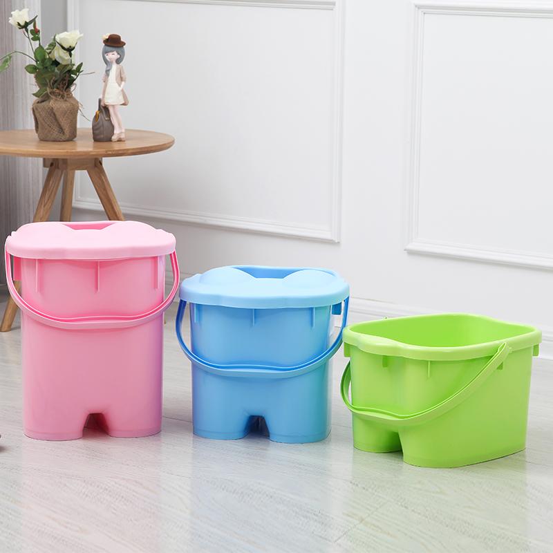 脚底按摩足浴桶足浴盆泡脚桶加高足疗桶洗脚盆家用塑料洗脚桶图片