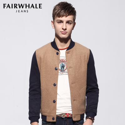 Fairwhale jacket 2014 winter new men genuine jacket England wool coat tide 7106