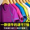 运动短袖T恤男夏季大码健身衣吸汗半袖跑步女宽松上衣透气速干T恤