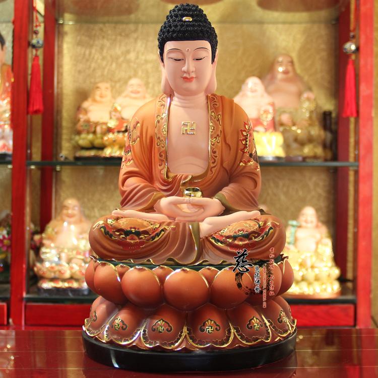Изображения Будды, Статуи божества Три сокровища Мани Будды Шакьямуни Будда Будда Будда Амитабха, династии Тан 16 дюймов