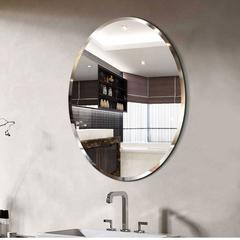 欧式浴室镜洗手间镜子椭圆形卫生间梳妆壁挂镜化妆镜简约镜子