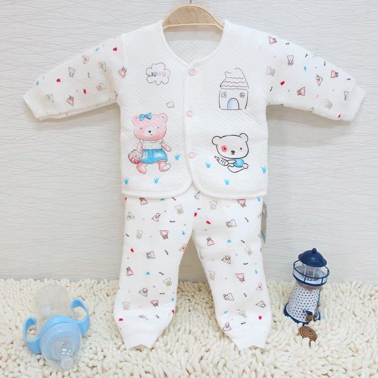 婴儿内衣套装纯...
