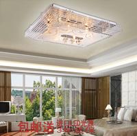 简约现代客厅灯LED水晶灯卧室灯长方形吸顶灯平板低压灯新款灯饰