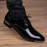 皮鞋男春季新款真皮尖头内增高黑色包邮婚鞋正品青年商务休闲正装