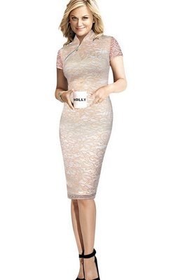 autumn Women Formal Plus size Party Bodycon dress 蕾丝连衣裙