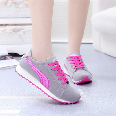 Spring new Korean version of Forrest Gump shoes, canvas shoes, ladies shoes to help low student flat bottomed muffin short spell color shoes