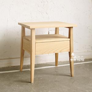 野木1978现代简约实木手工实木床头柜角几电话桌预定00