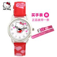 正品Hello Kitty儿童腕表 可爱KT时尚学生表 凯蒂猫卡通刻度手表
