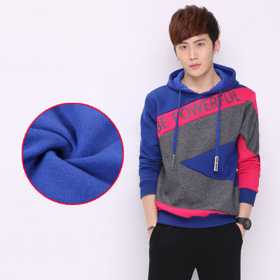 2014 autumn and winter male taxi thick velvet hooded cotton hedging large size sportswear casual sweater coat