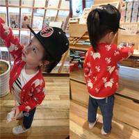 儿童针织衫外套15秋冬女宝宝毛线开衫韩国小童潮衣