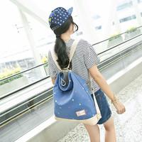 包包2015新款女包韩版手提包小清新斜挎包简约背包帆布包两用大包