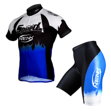 Nenk to cycling suits bicycle clothing for men Riding mountain bike cycling shorts with short sleeves in summer