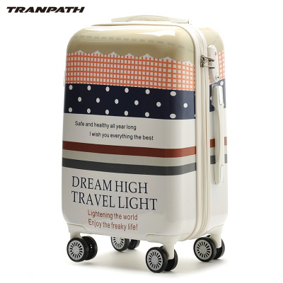 tranpath Trolley Caster graffiti travel bags female student personality suitcases 202 428 inch