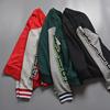 棒球服男春秋季学生开衫情侣装毛圈款短外套夹克卫衣男运动美式潮