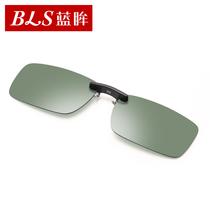 蓝眸偏光太阳镜夹片近视镜夹片式太阳眼镜专用墨镜司机镜男女眼睛