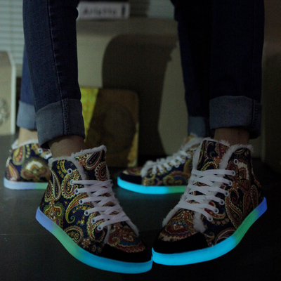 2014 new fluorescent shoes women shoes tide shoes luminous robes Ethnic couple shoes shoes shoes shoes men fluorescence