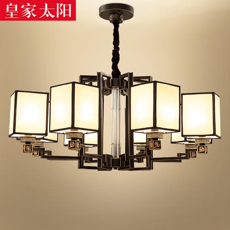 新中式吊灯铜灯大气客厅灯现代简约餐厅吊灯创意个性别墅酒店灯具