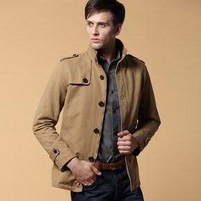 男士立领保暖夹克