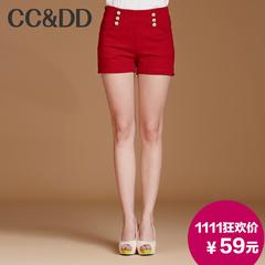 【双II提前享】CCDD2014秋装新款热裤时尚英伦高腰双排扣西装短裤