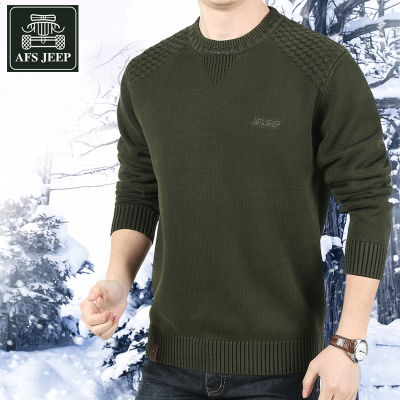 AFS JEEP Men Tee thin sweater Battlefield Jeep Winter Men pullover jacket Korean tide