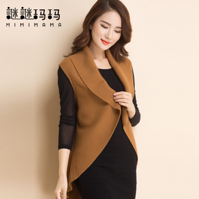 2014 autumn and winter new wool sweater vest vest vest female female pure wool shawl cardigan mother installed
