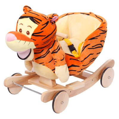 Meng Meng love child educational toys wooden rocking horse gift tuba music baby toys birthday gift