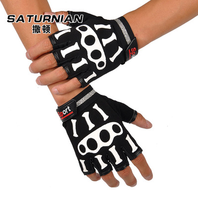 Sutton summer bike riding gloves half finger gloves slip resistant breathable skeleton thin mountain bike equipment