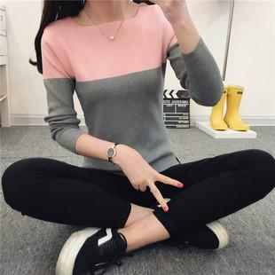 女装秋装2018潮长袖打底衫加厚针织衫女套头毛衣女秋冬季外套