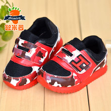 Autumn antiskid men and women's shoes breathable sneaker Net cloth baby baby shoes Soft bottom toddler shoe bag mail